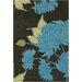 Chandra Rugs Amy Butler Black/Gray Chrysanthemum Area Rug