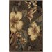 <strong>Nassau Taupe Floral Rug</strong> by Chandra Rugs