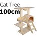 Multi Level Cat Scratching Poles Tree with Ladder Beige i.Life