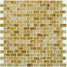 Shaw Floors Glass Expressions Frosted Micro Blocks Accent Tile in Amber