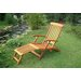 Royal Tahiti Balau Folding Patio Steamer Lounge Chair