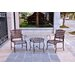 <strong>International Caravan</strong> Santa Fe 3 Piece Patio Bistro Set