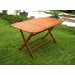 <strong>Royal Tahiti Balau Outdoor Folding Dining Table</strong> by International Caravan