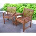 International Caravan Highland Acacia Double Corner Patio Chair