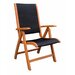 <strong>International Caravan</strong> Royal Tahiti Balau Multi-Position Folding Patio Chair (Set of 2)