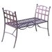 International Caravan Santa Fe Wrought Iron Vanity Bench