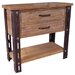 Rustic Forge Console Table