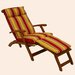 <strong>Blazing Needles</strong> All-Weather UV-Resistant Outdoor Steamer Deck Lounge Cushion