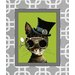 <strong>Obvious Place</strong> Steampunk Cat Green Graphic Art on Canvas