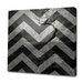<strong>Obvious Place</strong> Dark Tree Landscape Gray Chevron Graphic Art on Canvas