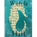<strong>Graffitee Studios</strong> Rhode Island Watch Hill Seahorse Textual Art on Canvas