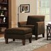 Warner Microfiber Arm Chair and Ottoman