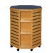 """<strong>ShowMore Series Mobile Octagon Slatwall 39"""" Shelf Display</strong> by Russwood"""