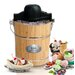 <strong>Elite by Maxi-Matic</strong> Gourmet 6-qt. Old Fashioned Pine Bucket Electric and Manual Ice Cream Maker