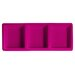 "Knack3 Brights 14"" Rectangular Three Section Melamine Serving Tray"