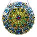 <strong>Stained Glass Webbed Heart Window/Wall Panel</strong> by River of Goods