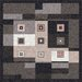 <strong>Pastiche Bloques Ebony Rug</strong> by Milliken