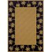 Lanai Beige/Black Palm Trees Rug