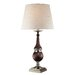 Costanzina Table Lamp in Polished Steel and Dark Walnut