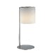 Velia Table Lamp in Polished Steel