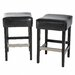 Christopher Knight Home Tate Backless Leather Bar Stool (Set of 2)