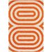 <strong>Tufted Pile Orange Geometric Rug</strong> by Thomas Paul