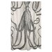 <strong>Thomas Paul</strong> Bath Octopus Shower Curtain in Charcoal