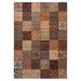 Inspired Design Paisley Block Light Brown Multi Rug