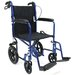 "19"" Ultra Lightweight Transport Wheelchair with Hand Brake"