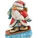 G Debrekht Derevo Downslope Snowboard Santa Figurine