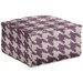 Surya Heavenly Houndstooth Pouf Ottoman