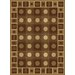 China Garden Checkers Chocolate Rug