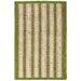 Anji Mountain Hamptons Sweetfern Green/Tan Striped Area Rug