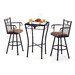 Tempo Longhorn 3 Piece Counter Height Pub Table Set