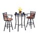 Tempo Winston 3 Piece Counter Height Pub Table Set