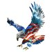 Refraxions Majestic Eagle 3D Wall Art