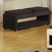 <strong>Cancun Microfiber Double Tray Storage Bench in Black</strong> by Armen Living
