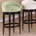 Igloo Microfiber Swivel Barstool in Green