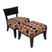 Carolina Accents Metro Fabric Slipper Chair and Ottoman