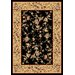 Cambridge Black/Beige Floral Delight Rug