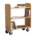 <strong>Solid Oak Book Truck With 3 Flat Shelves</strong> by Diversified Woodcrafts