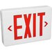 Exit Sign in White with Red Letters