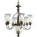 Fiorentino 6 Light Chandelier with Bowl