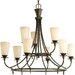 <strong>Progress Lighting</strong> Cantata 9 Light Chandelier