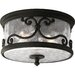 Augusta Outdoor Flush Mount in Forged Black