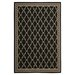Courtyard Black & Sand Checked Area Rug by Safavieh