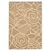 <strong>Courtyard Coffee/Sand Floral Outdoor Rug</strong> by Safavieh