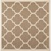 <strong>Courtyard Brown / Bone Outdoor Rug</strong> by Safavieh