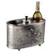 Antique Embossed Pewter Two Bottle Wine Chiller