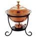 <strong>Old Dutch International</strong> Round 3 Qt. Decor Copper Chafing Dish